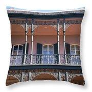 French Quarter 47 Throw Pillow