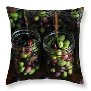 Fresh Harvested Olives And Tunas Throw Pillow