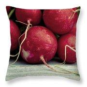 Fresh Radish Throw Pillow