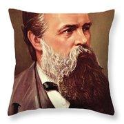 Friedrich Engels Throw Pillow