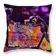 Frogs Love Valentine S Day Pose  Throw Pillow