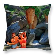 Frolicking In The Canyons Throw Pillow