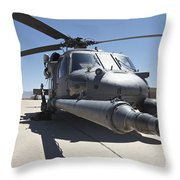 Front View Of A Hh-60g Pave Hawk Throw Pillow