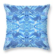 Frost Feathers Throw Pillow