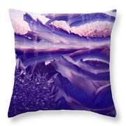 Frost On A Windowpane At Sunrise Throw Pillow