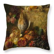 Fruit Flowers And Game Throw Pillow