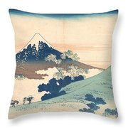 Fuji From Inume Pass Throw Pillow
