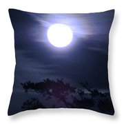 Full Moon Falling Throw Pillow