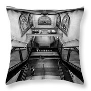 Fulton Street Subway Throw Pillow