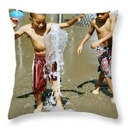 Fun With Water. Throw Pillow