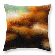 Fungus Tendrils Throw Pillow