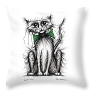 Fuzzy Cat Throw Pillow
