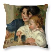 Gabrielle And Jean Throw Pillow