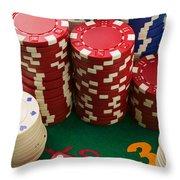 Gambling Dice Throw Pillow