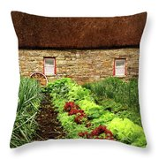 Garden Farm Throw Pillow