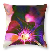 Garden Glow Throw Pillow