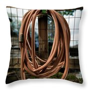 Garden Hose Throw Pillow