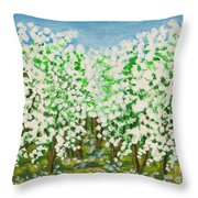 Garden In Blossom Throw Pillow