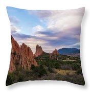 Garden Of The Gods - Colorado Springs Throw Pillow