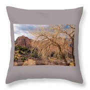 Garden Of The Gods Entrance Throw Pillow