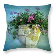 Garden Planter Throw Pillow