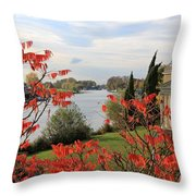 Garrick Temple On The River Thames At Hampton Throw Pillow