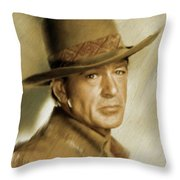 Gary Cooper, Vintage Actor Throw Pillow