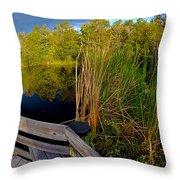 Gator Lake Throw Pillow
