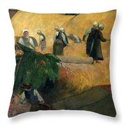 Gauguin: Breton Women Throw Pillow