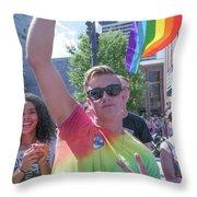 Gay Pride Throw Pillow