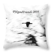 Geese Flyover Throw Pillow