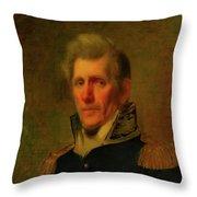 General Andrew Jackson Throw Pillow