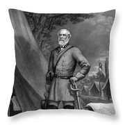 General Robert E. Lee Throw Pillow