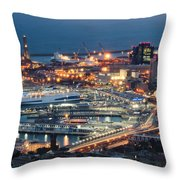 Genoa Blue Hour Throw Pillow