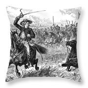 George Custer (1839-1876) Throw Pillow