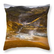 Geothermal Area Throw Pillow