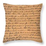 Gettysburg Address Throw Pillow