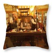 Ghost Musicians Throw Pillow