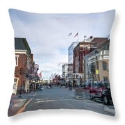 Ghost Of Lexington Throw Pillow