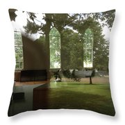Ghostly Reflections Throw Pillow