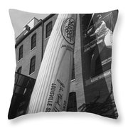 Giant Baseball Bat Adorns Throw Pillow