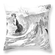 Gibson: Bather, 1902 Throw Pillow
