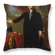 Gilbert Stuart - George Washington 1796 Throw Pillow
