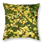 Ginkgo Biloba Leaves Throw Pillow
