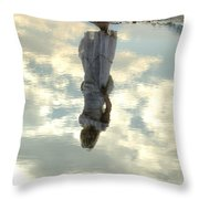 Girl And The Sky Throw Pillow by Joana Kruse