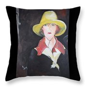Girl In Riding Hat Throw Pillow