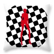 Girls. Red. II Throw Pillow