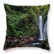 Git Git Waterfall - Bali Throw Pillow