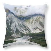 Glacier Bay Landscape Throw Pillow