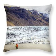 Glacier Lagoon Throw Pillow